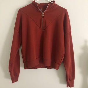 Urban Outfitters Circle Ring Half Zip
